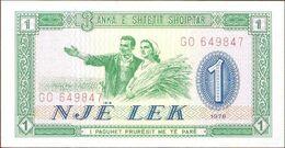 Albania 1 Lek 1976 Pick 40.a UNC - Albania