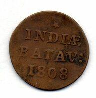 INDONESIA - NETHERLANDS EAST INDIES - BATAVIAN REPUBLIC, 1 Duit (5 1/16 Gulden), Copper, Year 1808, KM #76 - Indonesië