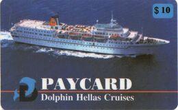 GRECIA KEY CABIN Dolphin Hellas Cruises Paycard $10  (Shipping Company) - Cartes D'hotel