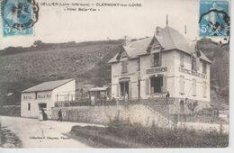 """CPA Le Cellier - Clermont-sur-Loire - """"Hôtel Belle-Vue"""" (avec Jolie Animation) - Le Cellier"""
