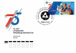 2020-2687 Russia FDC Canc Moscow 75th Anniversary Of Nuclear Industry In Russia . Sciences:Energies:Atom - FDC