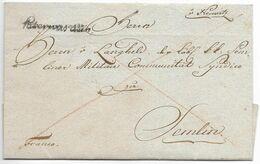 Austria Vojvodina 1799 Neusatz With Peterwardein Handstamp To Semlin Jk.4 - ...-1850 Prephilately