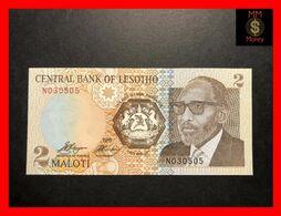LESOTHO 2 Maloti  1989  P. 9  UNC - Lesoto