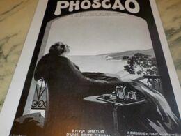 ANCIENNE PUBLICITE CHOCOLAT PHOSCAO 1932 - Afiches