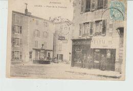 CPA ARDES (63) PLACE DE LA FONTAINE - ANIMEE - Frankreich