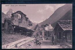 Val D'Anniviers, Café De Zinal, Rue Animée (2948) - VS Wallis