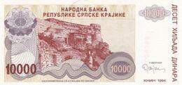 10 000 Dinara 1994  KNIN !!! Krajina !  Srbija - Serbia