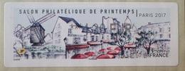 """2635 - 2017 - SALON PHILATELIQUE DE PARIS / TIMBRE DE DISTRIBUTEUR / VIGNETTE LISA 2 """" MONTMARTRE """" à 4,30 EUR - 2010-... Illustrated Franking Labels"""