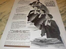 ANCIENNE PUBLICITE LE PUBLIC JUGERA SANKA SANS CAFEINE  1932 - Afiches