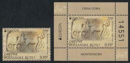 Montenegro 2020 Europa CEPT Ancient Postal Routes Stage Coach Horses Fauna Stamp + Block Souvenir Sheet MNH - Montenegro