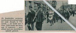 VILVOORDE..1939.. DE HONDERSTE VERJARING OVERSTROMINGSRAMP WIJK BORGHT JUNI 1839 KOSTTE  74 MENSENLEVENS - Oude Documenten