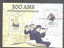 France Bloc Oblitéré (300 Ans D'hydrographie Française) ( Cachet Rond) - Usati