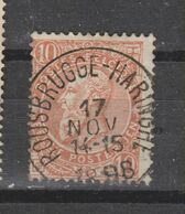 COB 57 Sans Bandelette Oblitération Centrale ROUSBRUGGE-HARINGHE - 1893-1900 Thin Beard