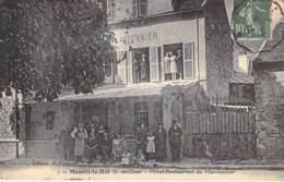 78 - MESNIL LE ROI : Hotel Restaurant Du Marronnier ( Bon Plan Extérieur Animé ) - Jolie CPA 1923 - Yvelines - Otros Municipios