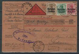 CZ-/-034-. SUPERBE DOC. D'OCCUPATION ALLEMANDE En BELGIQUE, VOIR AFF. TRICOLOR , BONNE COTE ! A SAISIR , - [OC1/25] Gen. Gouv.