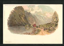Passepartout-AK Gudvangen, Endpunkt Des Naerofjörd - Norwegen