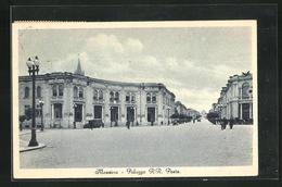 Cartolina Messina, Palazzo R. R. Poste - Messina