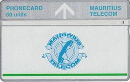 MAU-23e - Silver Upper Band And Green Line - 611A - Mauritius
