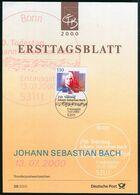 BRD - 2000 ETB 29/2000 # - Mi 2126 - 110Pf  Johann Sebastian Bach - FDC: Panes