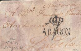 1817-CARTA-PREFILATELIA. ZARAGOZA A TUDELA. Marca ARAGON, De Zaragoza (P.E. 19) - ...-1850 Vorphilatelie
