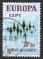 Europa CEPT 1972 Belgique - Belgium - Belgien Y&T N°1623 - Michel N°1678 (o) - 3,50f EUROPA - 1972