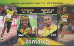 Jamaica 2016 Olympic Games In Rio De Janeiro Souvenir Sheet MNH/** (H60) - Summer 2016: Rio De Janeiro