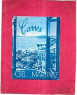 CANNES - 06 -  Dépliant Publiciaire Sur L'Hotel MARTINEZ - 090920 - Vendue En L'état - - Cannes
