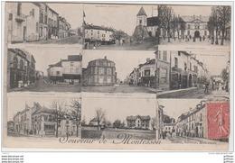 MONTESSON SOUVENIR MULTIES VUES POSTE MAIRIE ... 1907 TBE - Montesson
