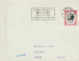 MONACO SCOLATEX 1959 - Postmarks