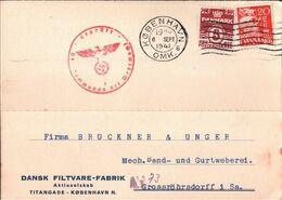 ! 1941, Dänemark, Denmark, Danmark, Kobenhavn, Grossröhrsdorf, OKW Zensur Censure, Censor - 1913-47 (Christian X)