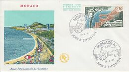 MONACO FDC 1967 ANNEE DU TOURISME - FDC