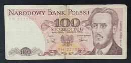 CSRS20 - Poland 100 Zlotych Banknote 1988 - Poland