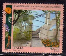 ITALIA REPUBBLICA ITALY REPUBLIC  2014 GIARDINO DELLA MINERVA IN SALERNO € 0,70 USATO USED OBLITERE' - 2011-...: Afgestempeld