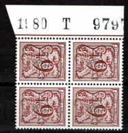 PRE  811P7a  Bloc 4  **  1980  T  979... - Typo Precancels 1967-85 (New Numerals)