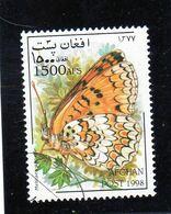 AFGHANISTAN   1998  Y.T. N° Papillons  Oblitéré - Afganistán