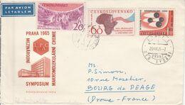 TCHECOSLOVAQUIE LETTRE POUR LA FRANCE 1965 - Czechoslovakia