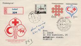 TCHECOSLOVAQUIE LETTRE RECOMMANDEE POUR LA FRANCE 1969 - Czechoslovakia