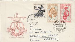 TCHECOSLOVAQUIE LETTRE POUR LA FRANCE 1963 - Czechoslovakia