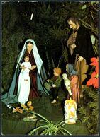 E0370 - Glückwunschkarte Weihnachten - Weihnachtskrippe Krippe - Bildungsstätte Marienland - Schnitzkunst - Christmas