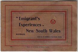 """1907 - NEW SOUTH WALES AUSTRALIA - Livret 13 Photos """"Emigrant's Experiences"""" - Altri"""