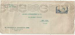 DAUDET 2FR SEUL LETTRE MEC PARIS ST LAZARE 7.X.38 PAQUEBOTS POUR USA TARIF SPECIAL 1FR75 + 25C DE LEVEE - Marcofilia (sobres)