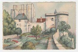 37 Loches Illustrateur BARDAY Le Donjon Et La Tour Louis XI VOIR DOS - Loches