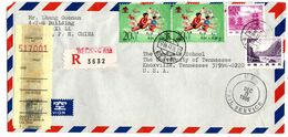 Chine Lettre Letter China To USA Theme Sport Athletisme - Lettres & Documents