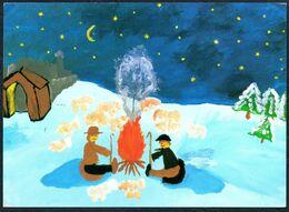 E0392 - Glückwunschkarte Weihnachten - Weihnachtskrippe Krippe - SOS Kinderdorf - Christmas