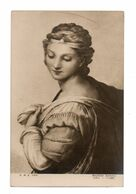 CPA - JEUNE FEMME (R. SANZIO) - Malerei & Gemälde