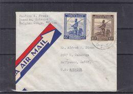 Congo Belge - Lettre De 1946 - Oblit Butembo - Exp Vers Hollywood - Soldats - Fusils - 10 F Rare Sur Lettre - Congo Belge