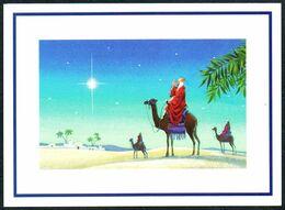 E0398 - TOP Weihnachten Glückwunschkarte - Heilige 3 Könige - Weihnachtskrippe Krippe - Klappkarte - Holidays & Celebrations