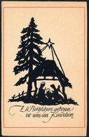 E0403 - Weihnachten Bildkarte - Weihnachtskrippe Krippe Scherenschnitt - Sehr Dünnes Papier - Christmas