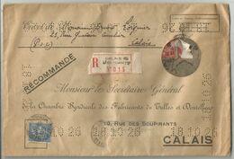 N°199+205  PERFORE LETTRE A TROU REC BREVET DE DENTELLE DE CALAIS 1928 - Francia