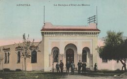 KENITRA (Maroc) - La Banque D'Etat Du Maroc (avec Les Banquiers) - Cpa Vierge - Très Bon état - Altri